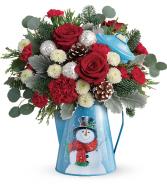 Teleflora's Frosty Enchantment Bouquet Christmas Arrangement
