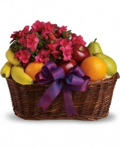Teleflora's Fruit and Blooms Fruit Basket