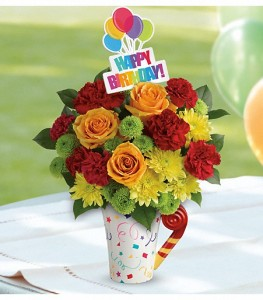 Occasions Birthday Flowers Fun N Festive Bouquet TBC01 1A A Telefloras Keepsake