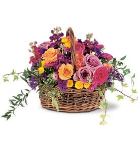 Teleflora's Garden Gathering Basket  Basket Arrangement