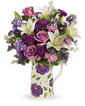 Teleflora's Garden Pitcher Bouquet bouquet