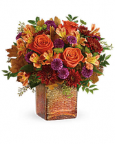Teleflora's Golden Amber Bouquet Fall mix of beautiful fresh flowers