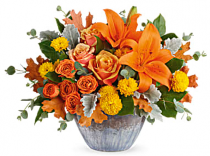 Teleflora's Golden Bounty Centerpiece Fall