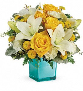 Teleflora's Golden Laughter TEV46-1B Bouquet in Moses Lake, WA   FLORAL OCCASIONS