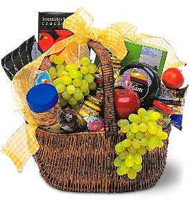 Teleflora's Gourmet Picnic Basket fruit and gourmet
