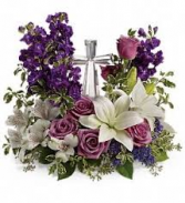 Teleflora's Grace and Majesty Bouquet Crystal Cross