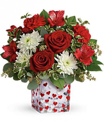 Teleflora's Happy Harmony Bouquet vase arrangement
