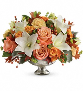 Teleflora's Harvest Shimmer TFL10-1B Centerpiece  in Moses Lake, WA | FLORAL OCCASIONS