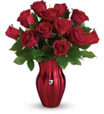 Teleflora's Heart Of A Rose Bouquet Red Rose