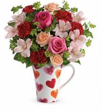 Teleflora's Hearts And Hugs Bouquet Rose Bouquet