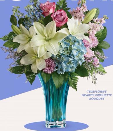Teleflora's Heart's Pirouette Bouquet VASE ARRANGEMENT