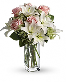 Teleflora's Heavenly and Harmony Bouquet  Vase arrangement