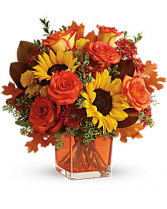 Teleflora's Hello Autumn Bouquet Fall Fresh Arrangement