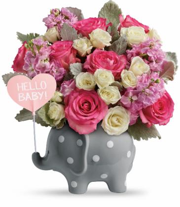 Teleflora's Hello Sweet Baby Bouquet - Pink