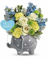 Teleflora's Hello Sweet Baby  Flower arrangement