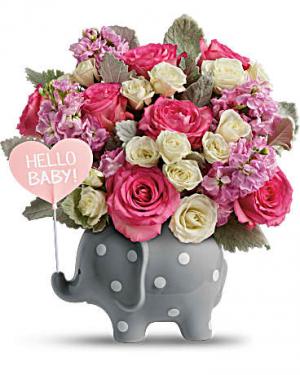 Teleflora's Hello Sweet Baby - Pink  in Edgewood, MD | ALWAYS GOLDIE'S FLORIST