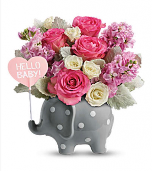 Teleflora's Hello sweet baby pink Fresh in Auburndale, FL | The House of Flowers