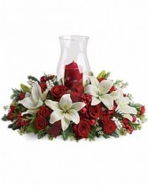 Teleflora's Holiday Glow Holiday Centerpiece