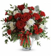 Teleflora's Holiday Shine Bouquet Fresh Arrangement