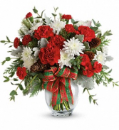 Teleflora's Holiday Shine Christmas arrangement