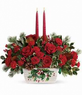 Telefloras Holly Glow Centerpiece