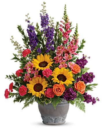 Teleflora's Hues Of Hope Bouquet Urn