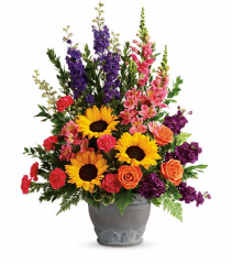 Teleflora's Hues of Hope Fresh Arrangement