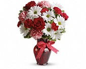 Teleflora's Hugs and Kisses Fresh arrangement Vased