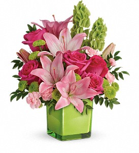 Teleflora's In Love With Lime TEV44-1B Bouquet in Moses Lake, WA | FLORAL OCCASIONS