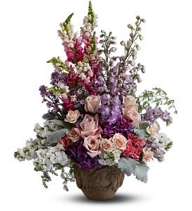 Teleflora's In the Garden Bouquet Fresh Arrangement in a Keepsake Urn