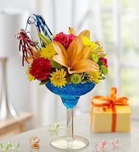 Teleflora's It's My Birthday Margarita Flower Arrangement