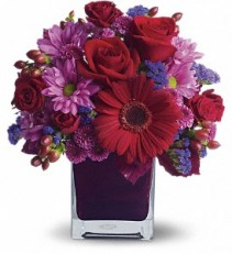 Teleflora's It's My Party Cube arrangement-fresh