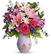 Teleflora's Lavishing Lavender Bouquet Fresh Arrangement with a Teleflora Keepsake