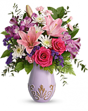 Teleflora's Lavishly Lavender Bouquet Bouquet in Three Rivers, TX | CURRY'S NURSERY & FLORAL