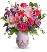 Teleflora's Lavishly Lavender vase