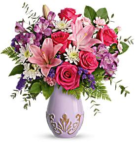 Teleflora's Lavishly Lavender vase in Florenceville Bristol, NB | JT's Flowers
