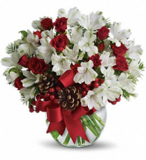 Teleflora's Let it Snow Bouquet Fresh Arrangement