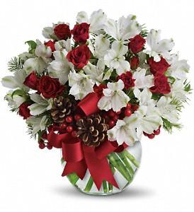Teleflora's Let it Snow Bouquet Fresh Arrangement