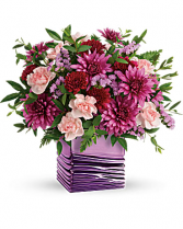 Teleflora's Liquid Lavender Bouquet Vase Arrangement