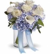 Teleflora's Love In Blue Bouquet Wedding Bouquet