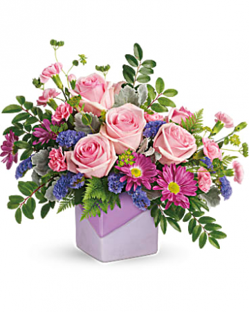 Teleflora's Love Squared Bouquet Vase Arrangement