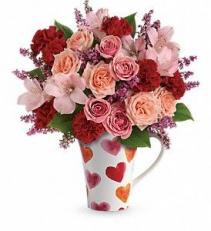 Teleflora's Lovely Hearts Bouquet Rose Bouquet