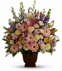 Teleflora's Loving Grace Fresh Funeral Bouquet