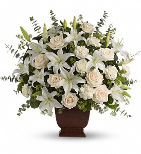 Teleflora's Loving Lilies and Roses Urn Arrangement in Auburndale, FL | The House of Flowers