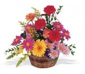 Teleflora's Low Wicker Basket Arrangement