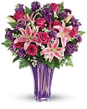 Luxurious Lavender Flowers Arrangement in Miami, FL | FLOWERTOPIA