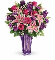 Teleflora's Luxurious Lavender Tall Vase