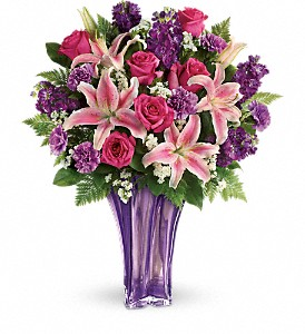 Teleflora's Luxurious Lavender Tall Vase