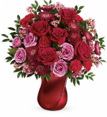 Valentines day flowers coral springs fl darbys florist telefloras mad crush bouquet mightylinksfo