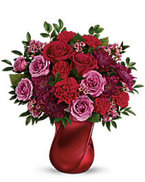 Teleflora's Mad Crush Bouquet Mix arrangement in special vase